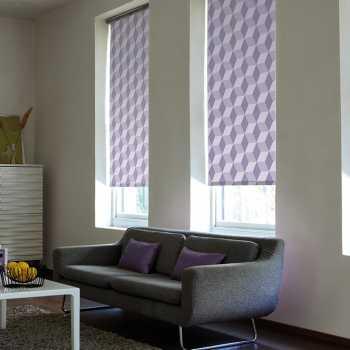 purple pattern roller blinds