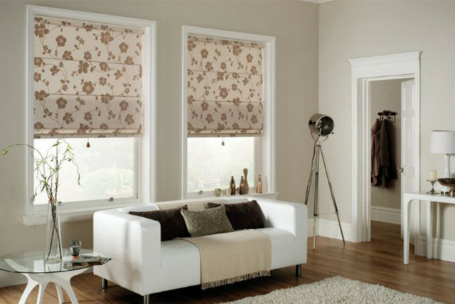 Roman Blinds in Living Room