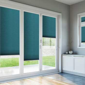 Bi Fold Doors With Blue Blinds